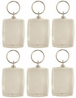 6 Photo Holder Keyrings - Pinata Toy Loot/Party Bag Fillers Wedding/Kids