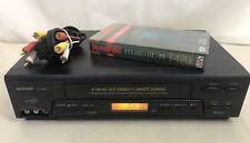 Sharp VC-H965U 4-Head Hi-Fi Stereo Video Cassette Recorder VCR VHS Player