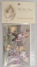 Turn Of The Century Easter Post Card Set Of 6 Boy With Cart Bunny And Chicks New