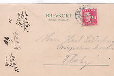 Postcard 1921 Linkoping to Floby Sweden Used VGC