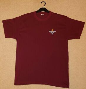 The Parachute Regiment PARAS Burgundy Cotton T-Shirt Tee Shirt Size XL