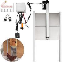 Automatic Chicken Coop Door Auto Door Opener Cage Closer Light Sensor Remote