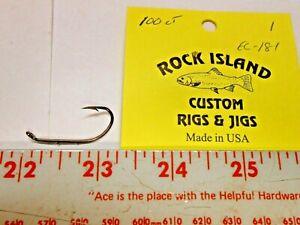 EAGLE CLAW # 181 BRONZE BAIT HOLDER HOOKS 100 CT FREE SHIPPING @ $50
