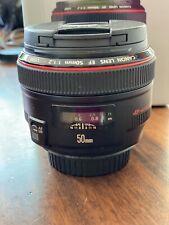 Canon EF 50 mm F/1.2 USM Objektiv.