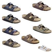Birkenstock Arizona Mens Womens Sandals Slides Shoes Leather Nubuck Oil Smooth