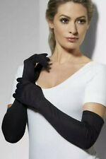 Womens Long Black Gloves 52cm / 20.5 Inches by Smiffys Fancy Dress 9363