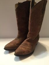 Smokey Mountain Tan&Pink Cowboy Leather Boots 8