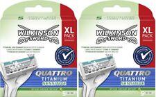 Wilkinson Quattro Titanium Sensitive Rasierklingen Aloe Vera 2x 5er Pack 10 Stk.
