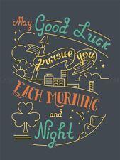 Quote Word Art Typography Motivation Good Luck Toast Ireland Canvas Art Print