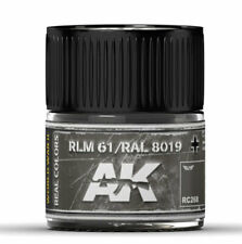 Ak Interactive #Aki-Rc268 Real Colors: Rlm 61 / Ral 8019 Acrylic Lacquer Paint
