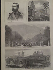 Lima Peru Views 1866 Antique Print Harper's Weekly