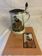 More details for franklin porcelain the ruffed grouse stein by basil ede limited edition 1983