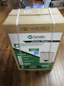 AO Smith GT15-240-NI Premier Indoor Tankless Natural Gas Water Heater 6.6GPM F/S