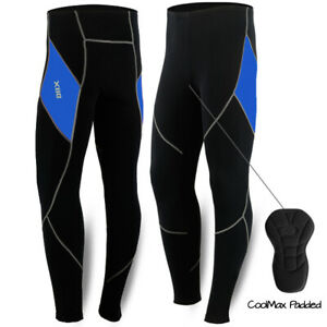 Men Winter Cycling Padded Trousers Thermal Pants Tights Bike Bicycle Legging