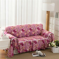 Floral Flannelette Slipcover Sofa Cover oukr Protector for 1 2 3 4 seater lmqd