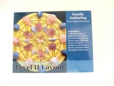 "Healing Crystal Grid Card FAMILY GATHERING 4x5"" Cardstock Communication Love"