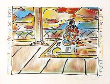 "PETER MAX ""TIBETAN SCENE"" 1979   SIGNED PRINT   POP ART   OTHERS AVAIL   GALLART"