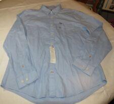 Mens Tommy Hilfiger Long Sleeve Button Up Shirt XL Custom Fit 78C3908 472 Blue