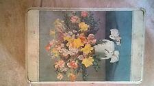 Scatola latta biscotti LAZZARONI anni '60 - soggetto vaso di fiori