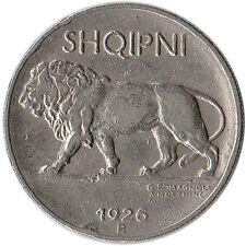 1926 Albania 1/4 Leku Coin Lion KM#3
