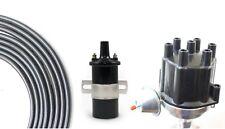 Billet Distributor 8.5mm Spark Plug Wires Coil 62-75 Chevy 194 230 250 292 L6