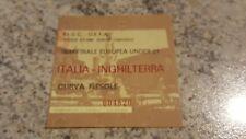 BIGLIETTO STADIO CALCIO ITALIA INGHILTERRA 2/5/84 SEMIFINALE EUROPEA UNDER 21 FI