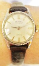 Vintage Swiss Ladies Stainless Steel Bernex 17 Jewels Watch for Sale
