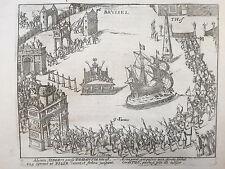 Baudartius Bor Dutch Revolt Rare Engraving Brussels Berlgium (4) - 1621