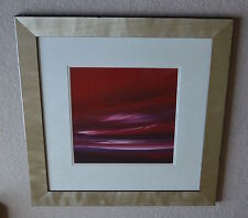 Jonathan Shaw Listed Artist Original Painting Stunning Red Sky