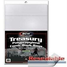 Treasury Resealable Comic Book Bags [New] Gaming Archival 100 Count Pack Bcw