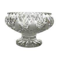 Large Vintage Brilliant Hand Cut Crystal Leaded Glass Centerpiece Bowl