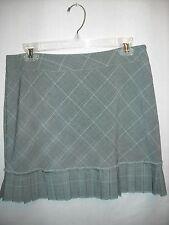 UNIFORM JOHN PAUL RICHARD Skirt sz 8 ~ Black White Ruffle Hem Glenplaid NWT