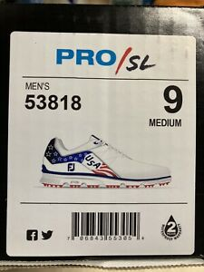 FOOTJOY Pro SL Ryder Cup USA Stars And Stripes Mens 9 M Golf Shors