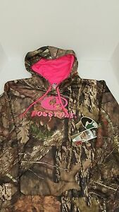 Women's Mossy Oak Hoodie w/ Pink Embroidered Logo size 2XL, NWT