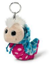 38482 NICI Plüsch Schlüsselanhänger Flibbie Flibbies blau/pink mit weißen Tupfen