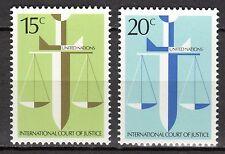 UN / New York office - 1979 Court of justice - Mi. 338-39 MNH