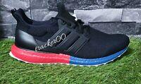 Adidas Ultraboost DNA Split Midsole Black Lush Red Shoes 44 Men's FX7236 Uk 9.5