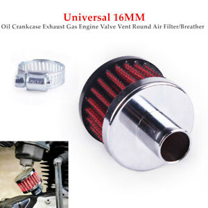 Car 16MM Oil Crankcase Exhaust Gas Engine Valve Vent Round Air Filter/Breather