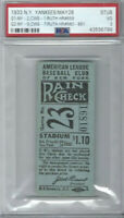 BABE RUTH 3 HOME RUN TICKET STUB! 5/28/1933- 🔥3 HR DAY #659, 660 & 661 🔥PSA 3