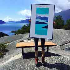 Howe Sound, Squamish Street Banners, Abstract Landscape Art Print  - 24x36