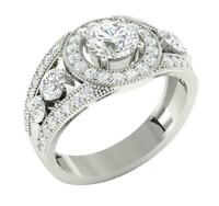 Solitaire Engagement Ring I1 G 2.00 Ct Natural Round Cut Diamond 14K White Gold