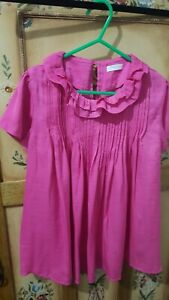 Pretty NEXT girls hot pink silky loose fit blouse (size 11 years)