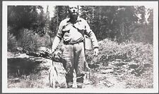 VINTAGE 1928 MAMMOTH HUNTINGTON LAKES CALIFORNIA FISHING TROUT CREEL REEL PHOTO