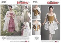 SIMPLICITY 8578/79 American Duchess 18thC 'Robe ala Francaise' Outlander Pattern