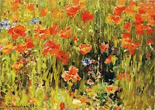 MUSEUM ART PRINT In Flanders Fields Robert W Vonnoh 30x16.75