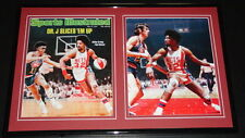 Dr J Julius Erving Framed 11x17 Photo Set Nets