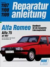 WERKSTATTHANDBUCH REPARATURANLEITUNG WARTUNG 1107 ALFA ROMEO ALFA 75 ab 1987