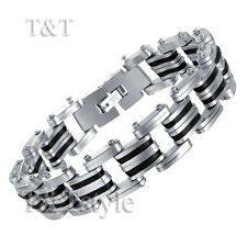 T&T 316L Stainless Steel THICK Link Bracelet (BBR130)