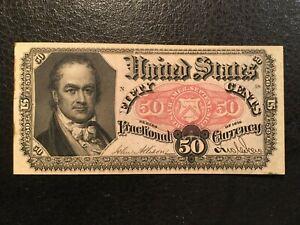 USA  50 Cents - Fractional -- 1875  -- CRISP!!  AU / UNC