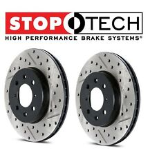 For Chrysler Dodge Set of Two Front Drilled Slotted Brake Rotors StopTech NEW
